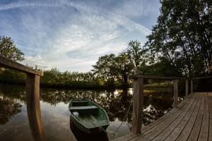 terrasse cabane de l'étang neuf