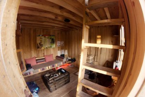 interieur cabane de l'étang neuf