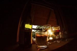 Verre de vin cabane de l'étang neuf