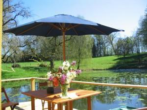 Terrasse cabane de l'étang rond